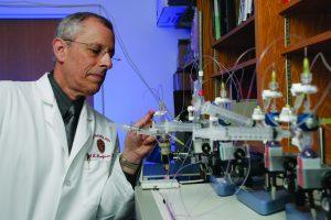 Dr. Kaufman in lab