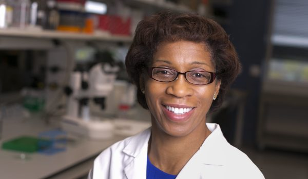 Dr. Young in her lab