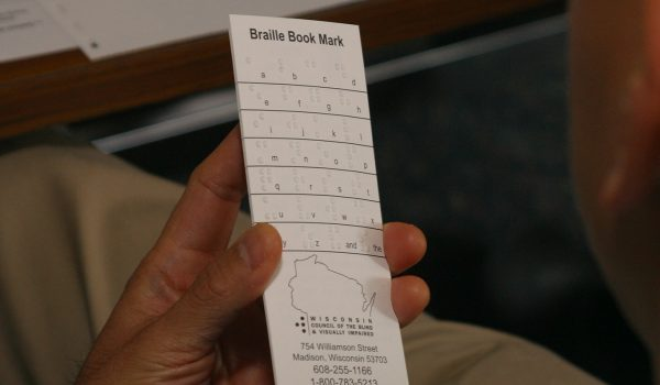 Braille Book Mark