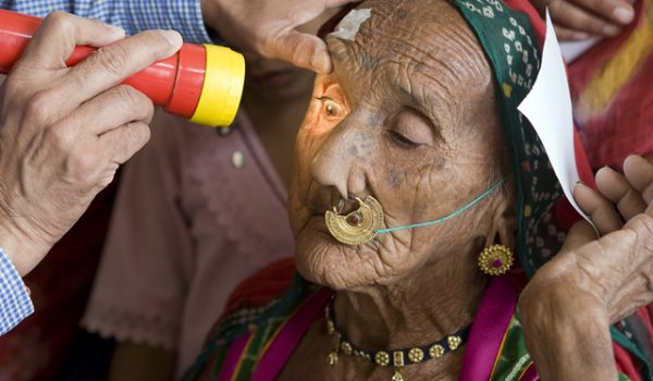 A Patient is Examined in India