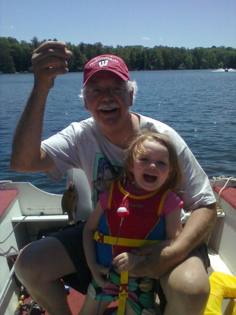 Russ and Natti fishing.